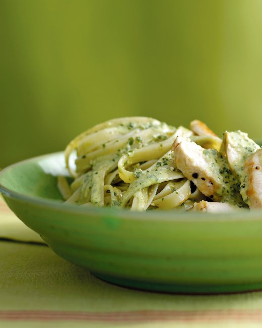 Chicken Pesto Fettuccine Recipe